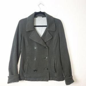 James Perse Gray Sweatshirt Jacket Size Medium